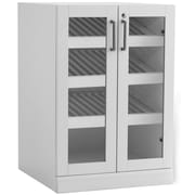 New Age Products – Armoire de présentation Home Bar, 24 x 24 po, style shaker, blanc (60006)