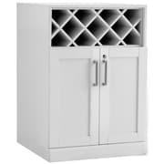 New Age Products – Armoire à vin de la série bar maison, 24 x 24 po, style shaker, blanc (60005)