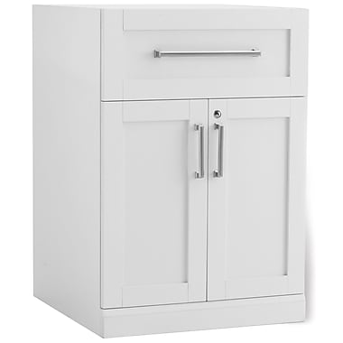 New Age Products – Armoire à deux portes Home Bar, 24 x 24 po, style shaker, blanc (60004)