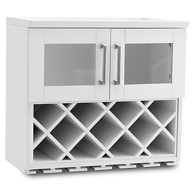 New Age Products – Armoire à vin murale de la série Bar maison, 24 x 13,5 po, style shaker, blanc (60000)