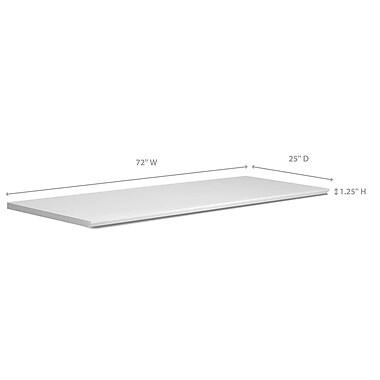 NewAge Products – Comptoir de la série Vin et Bar, 72 po, blanc (60013)