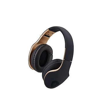 M – Casque d'écoute Xpert DJ avec microphone, noir sur or (61859)