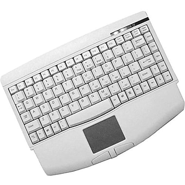 AdessoWired PS/2 Mini Touchpad Keyboard, White (ACK-540PW)