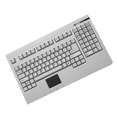 AdessoEasyTouch 730 Wired PS/2 Touchpad Keyboard, White (ACK-730PW)