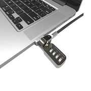 CompulocksLedge Combination Cable Lock Slot Adapter for MacBook Air, Silver (MBALDG01CL)