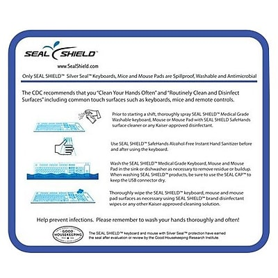 Seal Shield™ Seal Pad™ Antimicrobial Mouse Pad, Silver, 10/Pack (SSMP10VSH)