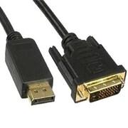Unirise DVI-D to DisplayPort Male/Male Video Cable, 3', Black (DVIDP-03F-MM)