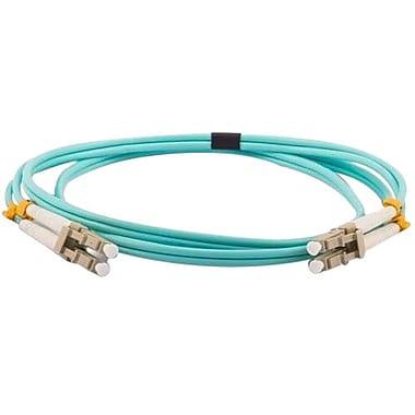 Unirise LC Male/Male Fiber Optic Multimode Duplex Patch Cable, 16.4', Aqua (FJ5GLCLC-05M)