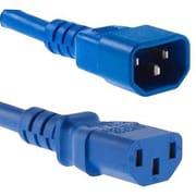 Unirise C13 to C14 PDU/Server Ultra Flexible Power Cord, 3', Blue (PWRC13C1403FBLU)