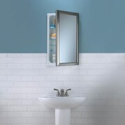 Broan Speciality Recessed Bath Cabinet; Satin Nickel