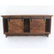 Teton Home Wooden Wall Storage Accent Shelf