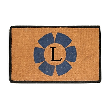 A1 Home Collections LLC First Impression Floella Monogrammed Doormat; L