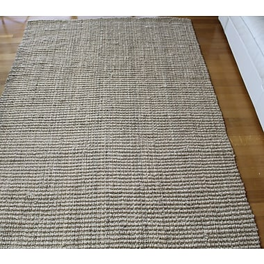 A1 Home Collections LLC Hand-Woven Beige Area Rug; 5' x 8'