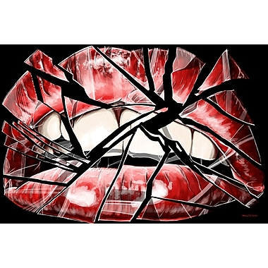 Maxwell Dickson ''Shattered Lips'' Graphic Art on Canvas; 36'' H x 48'' W
