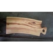 Pomegranate Solutions Plank Olive Wood Cutting Board; 14''L x 7''W x 1 ''D