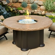 The Outdoor GreatRoom Company Colonial Fiberglass Propane Fire Pit Table