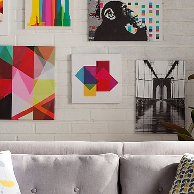 iCanvas Modern Study of Colors Graphic Art on Canvas; 37'' H x 37'' W x .75'' D