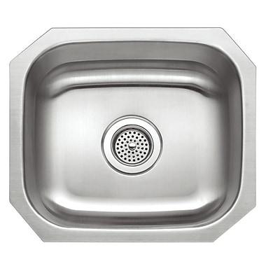 Winpro 18'' x 16'' Single Basin Undermount Kitchen Sink