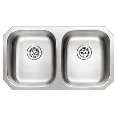 Winpro 32.25'' x 18.06'' Double Basin Undermount Kitchen Sink