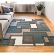 Well Woven Imagination Square Blue/Gray Area Rug