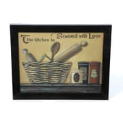 Timeless Frames Seasoned w/ Love by Pam Britton Framed Graphic Art