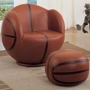 A&J Homes Studio All-Star Basketball Kids Club Chair and Ottoman