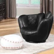 A&J Homes Studio All-Star Baseball Kids Club Chair and Ottoman