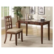 Bay Isle Home Eanes Writing Desk and Chair Set; Chestnut