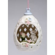 CosmosGifts Blossom Bunny Egg Shaped Ornament
