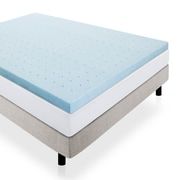 Lucid 2.5'' Gel Memory Foam Mattress Topper; Twin