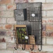 Wildon Home   Haymeadow Metal Wall Organizer w/ 4 Hooks