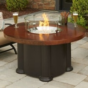 The Outdoor GreatRoom Company Colonial Fiberglass Gas Chat Fire Pit Table