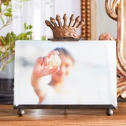 Creative Co-Op 2 Piece Metal and Glass Photo Picture Frame w/ Crown Set