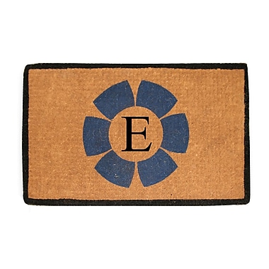 A1 Home Collections LLC First Impression Floella Monogrammed Doormat; E