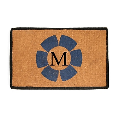 A1 Home Collections LLC First Impression Floella Monogrammed Doormat; M