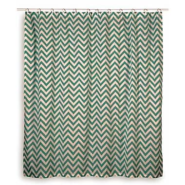 Wildon Home Charlean Cotton Shower Curtain; Teal
