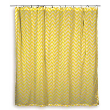 Wildon Home Charlean Cotton Shower Curtain; Yellow
