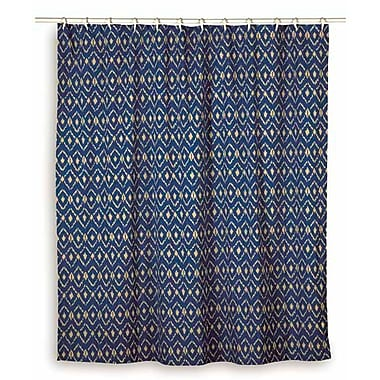 Wildon Home Charlee Cotton Shower Curtain; Blue