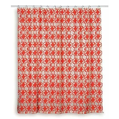 Wildon Home Charleen Cotton Shower Curtain; Red