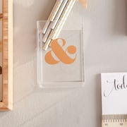 The Pink Orange Ampersand Pencil Cup