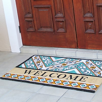 A1 Home Collections LLC First Impression Engineered Anti Shred Treated Waydon Welcome Doormat
