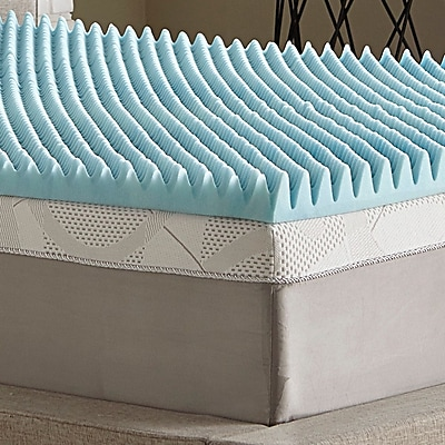 Simmons Curv Simmons Reversible 3'' Mattress Topper; Twin
