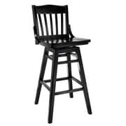 Benkel Seating Schoolhouse 30'' Swivel Bar Stool; Dark Mahogany