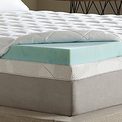 Simmons Curv 3.5'' Gel Memory Foam Mattress Topper; California King