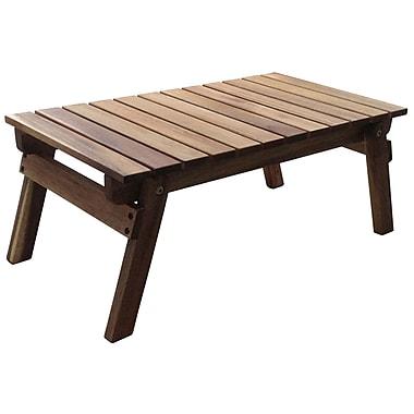 Cathay Importers – Plateau repliable en bois d'acacia, naturel huilé, 2/paquet