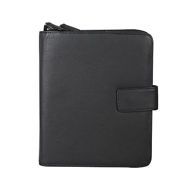 Karla Hanson - Étui organisateur pour iPad à deux faces en cuir prestige Professional and Travel, 28602, noir