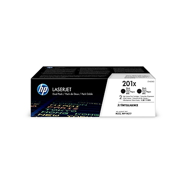 HP 201X (CF400XD) Black Original LaserJet Toner Cartridge, High Yield, 2/Pack