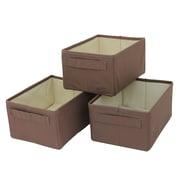 Cathay Importers – Paniers de rangement rectangulaires en polyester brun, 4,75 haut. x 9,5 larg. x 7 prof. (po), 3/paquet