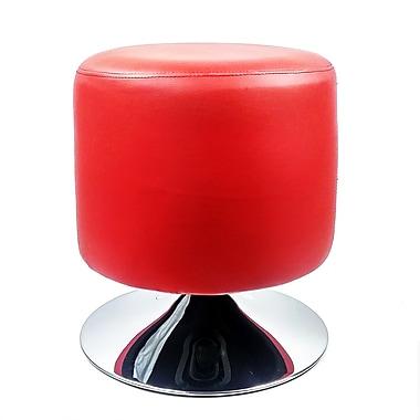 RetailPlus – Tabouret de bar contemporain Marfa, à hauteur standard, rouge