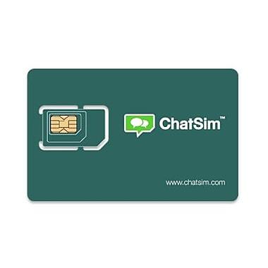ChatSim Unlimited Text & Emoji Worldwide Sim Card, (CHATSIM#01)